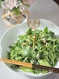 豆苗と帆立缶の柚子胡椒サラダ