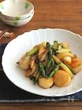 ごはんがすすむ和総菜◎ほたて貝とアスパラのバター醤油炒め