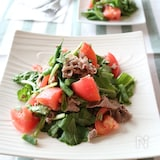 葉酸と鉄たっぷり!ルッコラと牛肉のマスタードサラダ