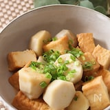レンチン後5分煮るだけほっこり和食♡絹揚げと里芋の甘辛味噌煮