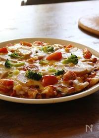 『子どもが本当に食べる!野菜たっぷり餅ピザ 』
