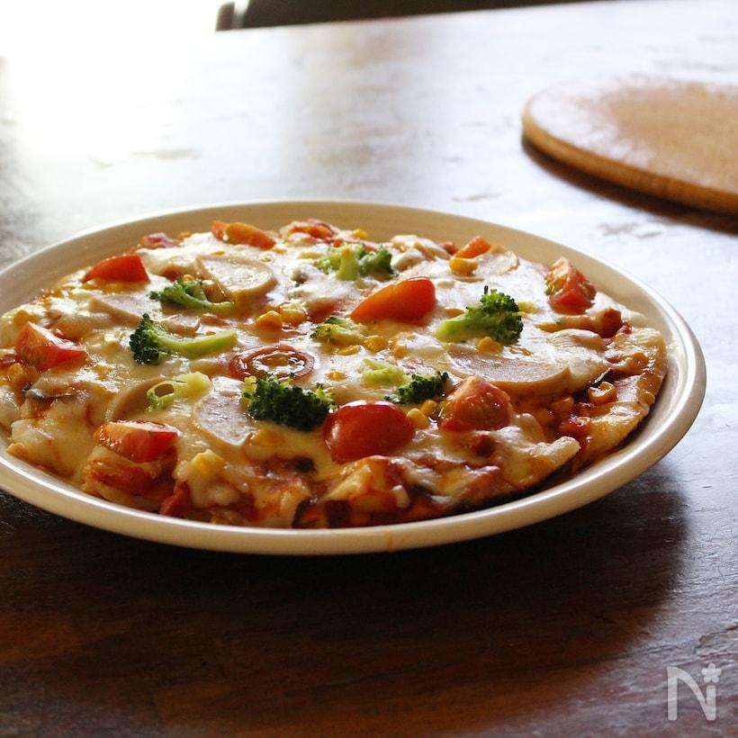 野菜たっぷり餅ピザ
