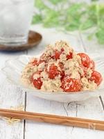 *即日完食の味*ツナとプチトマトの味噌マヨ和え《混ぜるだけ》