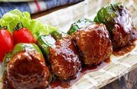 【ピーマンの肉詰め照り焼き】タレが決め手♬︎肉汁ジューシー
