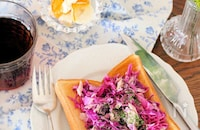 紫キャベツとツナのトースト*トーストバリエ