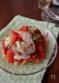 『タコとトマトのイタリアンサラダ』