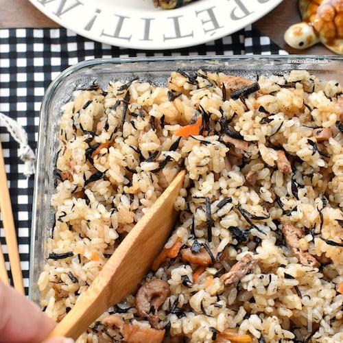 【リメイク】オイスターが決め手♡ひじきの煮物de炊き込みご飯