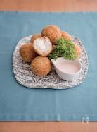 里芋と明太子のとろけるチーズinコロッケ。