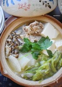 『スープまで飲み干せる♡絶品♡おすすめ♡鶏塩生姜鍋♡』