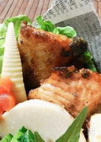 『鮭の塩麹ガーリックマヨワイン漬けてりやき 』
