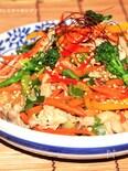 彩り野菜と豚コマのチャプチェ