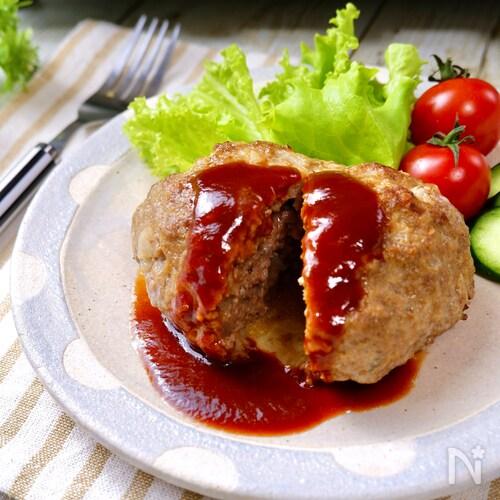 うまみ包み焼き製法!肉汁溢れる♡ふっくらジュ~シ~ハンバーグ