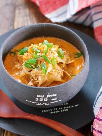 キムチ スープ 豆乳