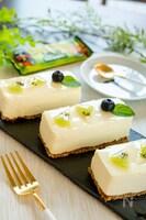 牛乳パックで!ネイチャーバレーレアチーズケーキバー