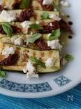 ズッキーニとドライトマト、フェタのサラダ
