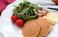 オートミールで作る☆メープルパンケーキ