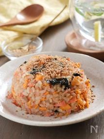 鮭と海苔の玄米チャーハン