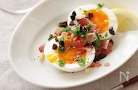 【半熟卵の作り方解説付】とろ~りまろやかな黄身がたまらない!半熟卵+αの絶品おつまみレシピ