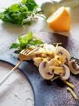 【3分おつまみ】サクサク美味しいマッシュルームのレモンサラダ