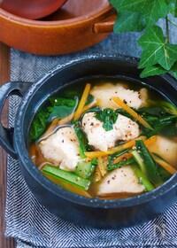 『『鶏むね肉と小松菜の中華風♡とろみ生姜スープ』【#ヘルシー】』