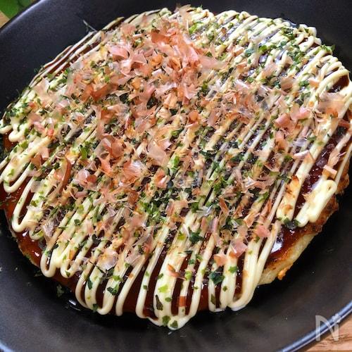 糖質OFF!もっちり美味しい『里芋のお好み焼き』