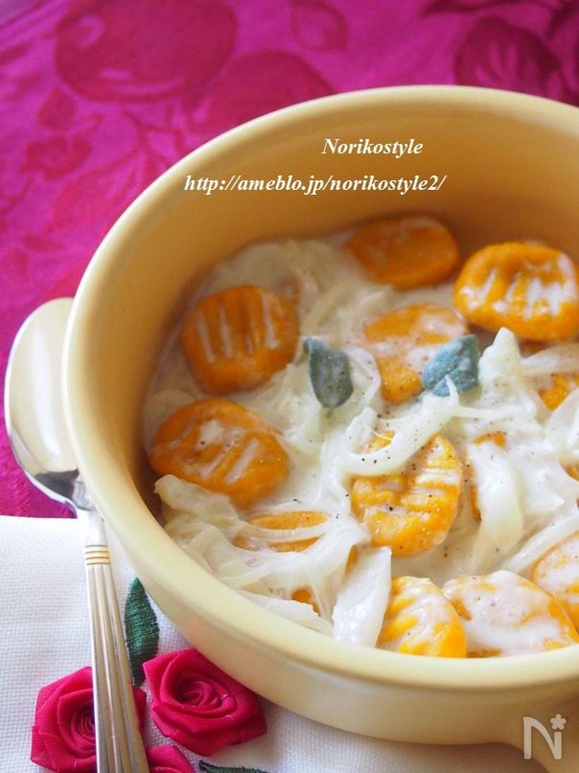 かぼちゃのニョッキ 玉ねぎミルクソース