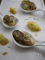 牡蠣と塩レモンのハーブソテー