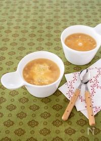 『時短オニオングラタン風スープ』