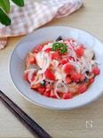 鮭と新玉ねぎのさっぱりトマトマリネソース