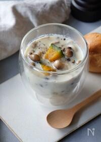 『レンジで簡単♪ほっこり豆乳きのこスープ』