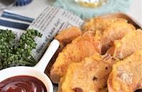 魚肉ソーセージのピカタ