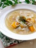 *もち麦とかぼちゃのスープ*