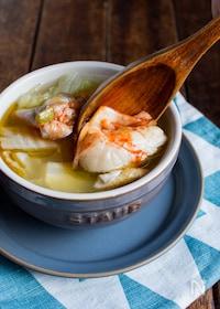 『【トッピングが美味しい】白菜ともも肉の絶品スープ』