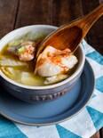 【トッピングが美味しい】白菜ともも肉の絶品スープ