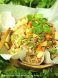 筍と野菜と豚肉のアジアンレタス包み