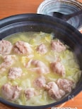 豚小間だんごと白菜の 塩バター鍋