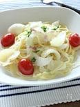 ゆり根とアイコのミルクスープスパゲティ