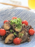 ご飯が進む!牛肉とシイタケのオイマヨ炒め