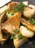 やみつきになる 椎茸と長芋のガーリックバター炒め