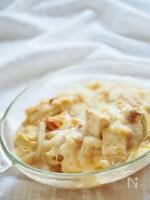 厚揚げと白菜の餅入り豆乳グラタン