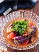 なすとトマトのポン酢マリネ【#作り置き#レンジ#調味料3つ】