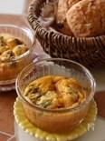 卵とチーズのふわふわココットスフレ