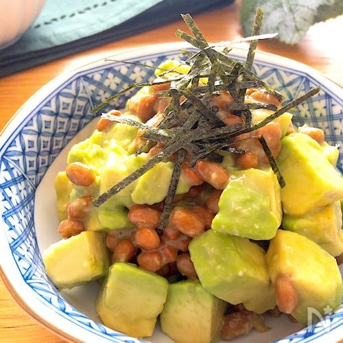 毎日食べたいほど美味しい♡アボカドと納豆の白だしわさび和え