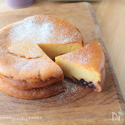 濃厚!米粉のベイクドチーズケーキ、グルテンフリー・簡単!