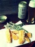 ビールが進むとうもろこしとアスパラの天ぷら♪
