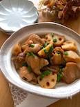 ポン酢でお手軽に〜♡鶏もも肉と蓮根のポンテリ煮
