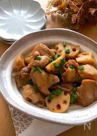 『ポン酢でお手軽に〜♡鶏もも肉と蓮根のポンテリ煮』