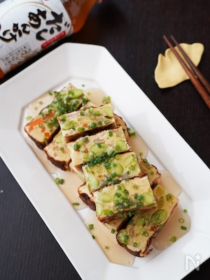 お弁当・おつまみにも♪枝豆と根菜のあんかけ擬製豆腐