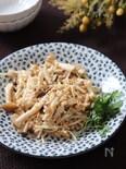 シンプルで美味しい食べ方♡きのこのガーリックツナレモン炒め