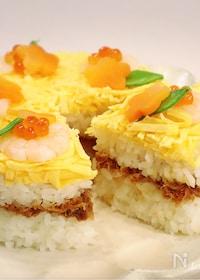 『<ひな祭り>春のお祝いに♡ギュギュ♪と詰めるだけ!ケーキ寿司』